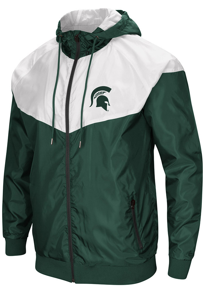 Colosseum Michigan State Spartans Mens Green Galivanting Light Weight Jacket - Image 1