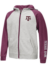 Texas A&M Aggies Youth Colosseum Parabolic Full Zip Jacket - Grey