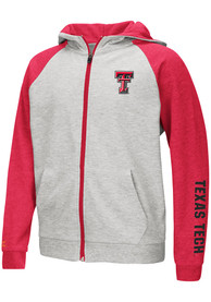 Texas Tech Red Raiders Youth Colosseum Parabolic Full Zip Jacket - Grey