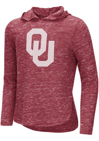 Oklahoma Sooners Girls Colosseum Swizzle Long Sleeve T-shirt - Cardinal