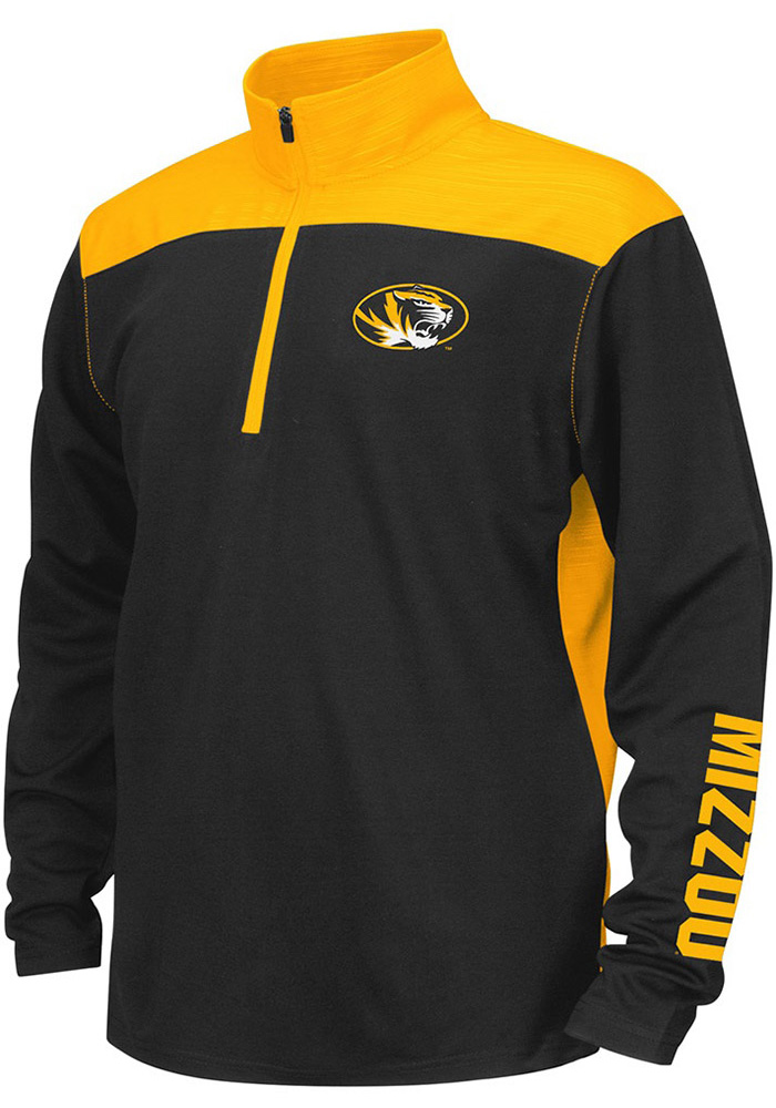 Colosseum Missouri Tigers Youth Black In The Vault Long Sleeve Quarter Zip Shirt - Image 1