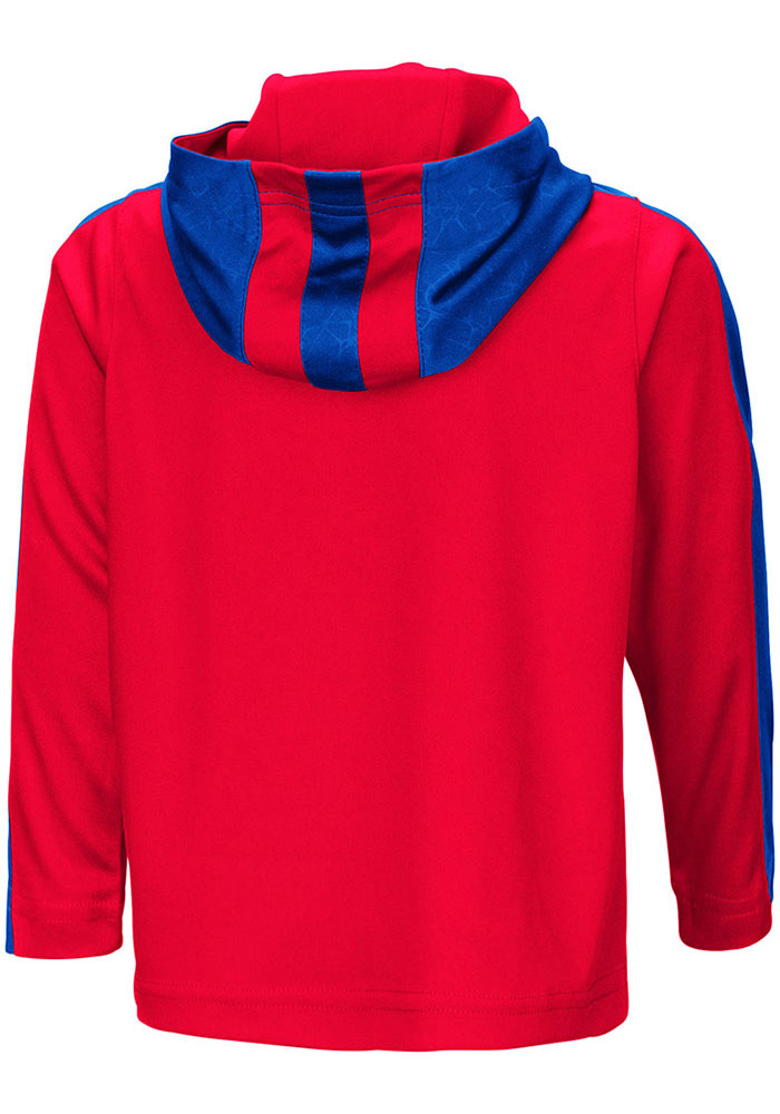 Colosseum Kansas Jayhawks Toddler Red Helisking Long Sleeve 1/4 Zip - Image 2