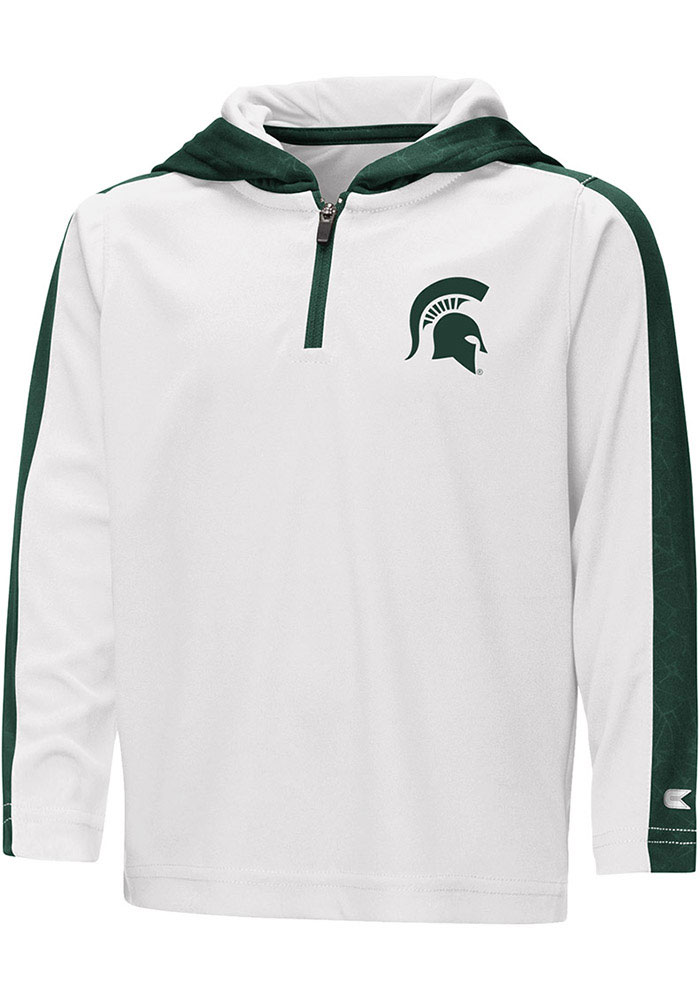 Colosseum Michigan State Spartans Toddler White Helisking Long Sleeve 1/4 Zip - Image 1