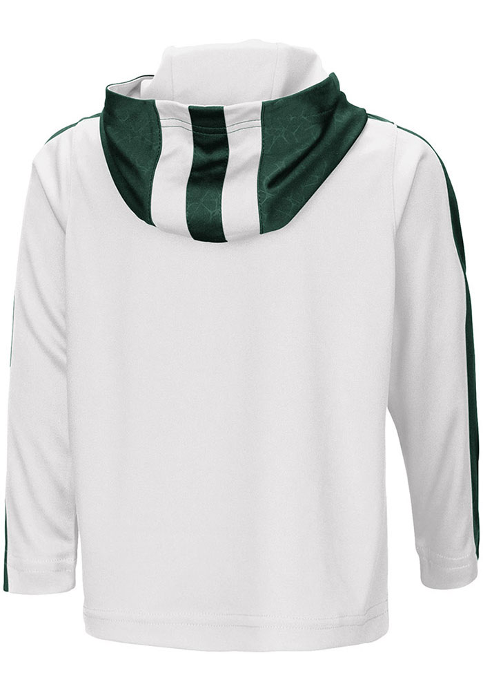 Colosseum Michigan State Spartans Toddler White Helisking Long Sleeve 1/4 Zip - Image 2