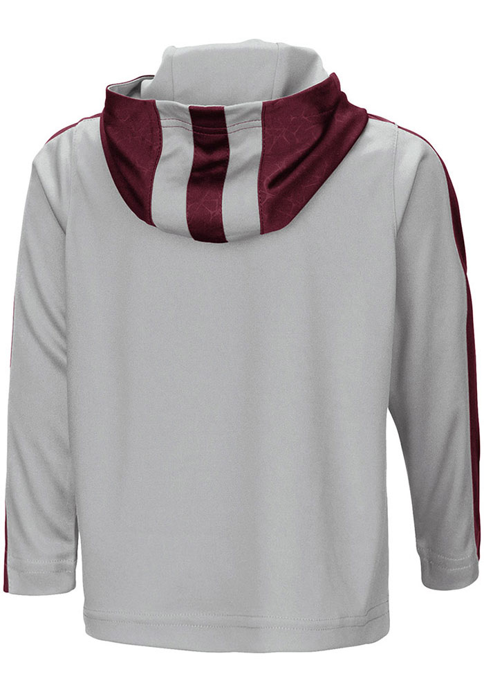 Colosseum Texas A&M Aggies Toddler Grey Helisking Long Sleeve 1/4 Zip - Image 2