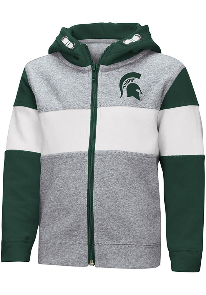 Colosseum Michigan State Spartans Toddler Snowplough Long Sleeve Full Zip Sweatshirt - Grey - Image 1