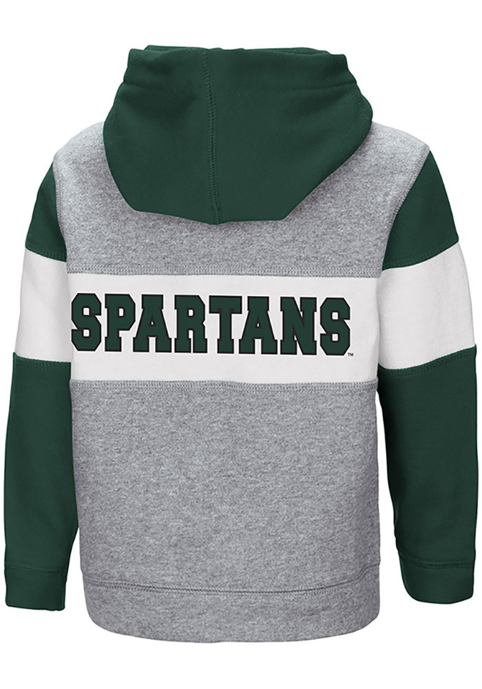 Colosseum Michigan State Spartans Toddler Snowplough Long Sleeve Full Zip Sweatshirt - Grey - Image 2
