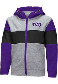 TCU Horned Frogs Toddler Colosseum Snowplough Full Zip Sweatshirt - Grey
