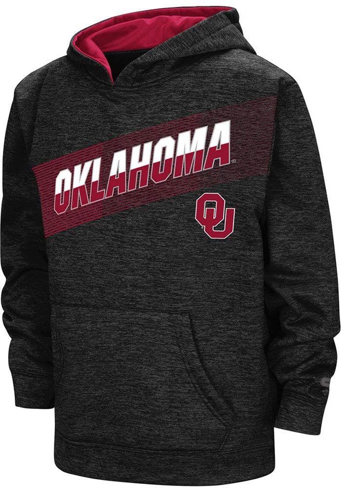 Colosseum Oklahoma Sooners Youth Crimson Inbounds Long Sleeve Hoodie - Image 1