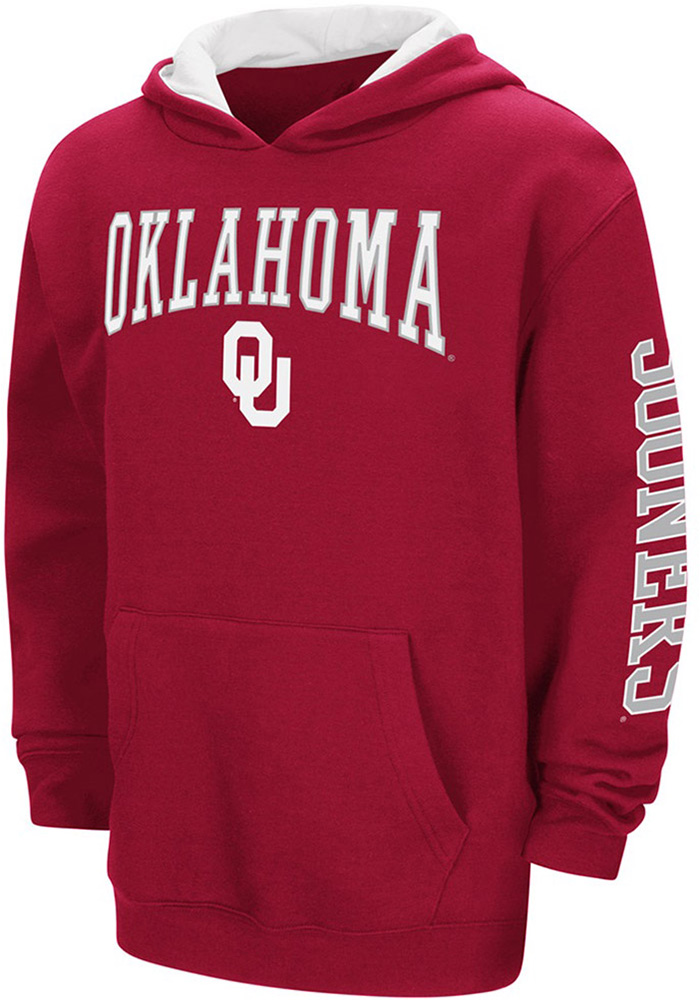 Colosseum Oklahoma Sooners Youth Crimson Zone Long Sleeve Hoodie - Image 1