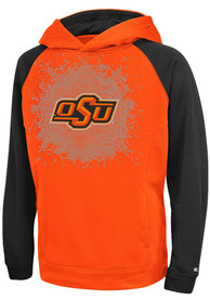 Oklahoma State Cowboys Youth Colosseum Combustion Hooded Sweatshirt - Orange