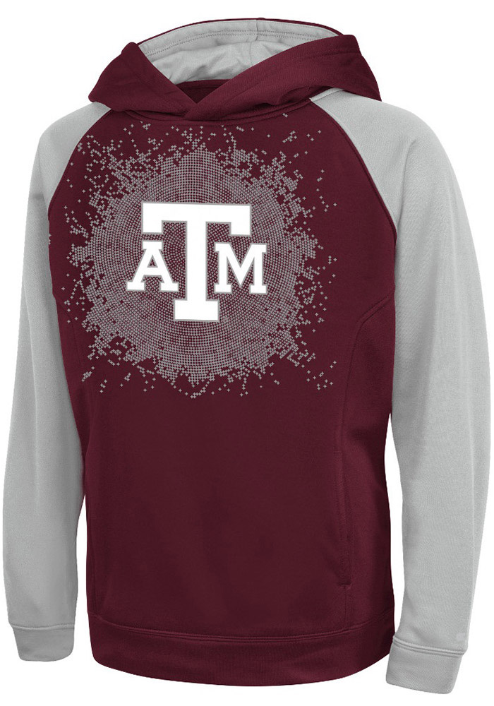 Texas A&M Aggies Youth Colosseum Combustion Hooded Sweatshirt - Maroon