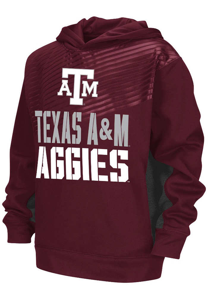Colosseum Texas A&M Aggies Youth Maroon Sonic Long Sleeve Hoodie - Image 1