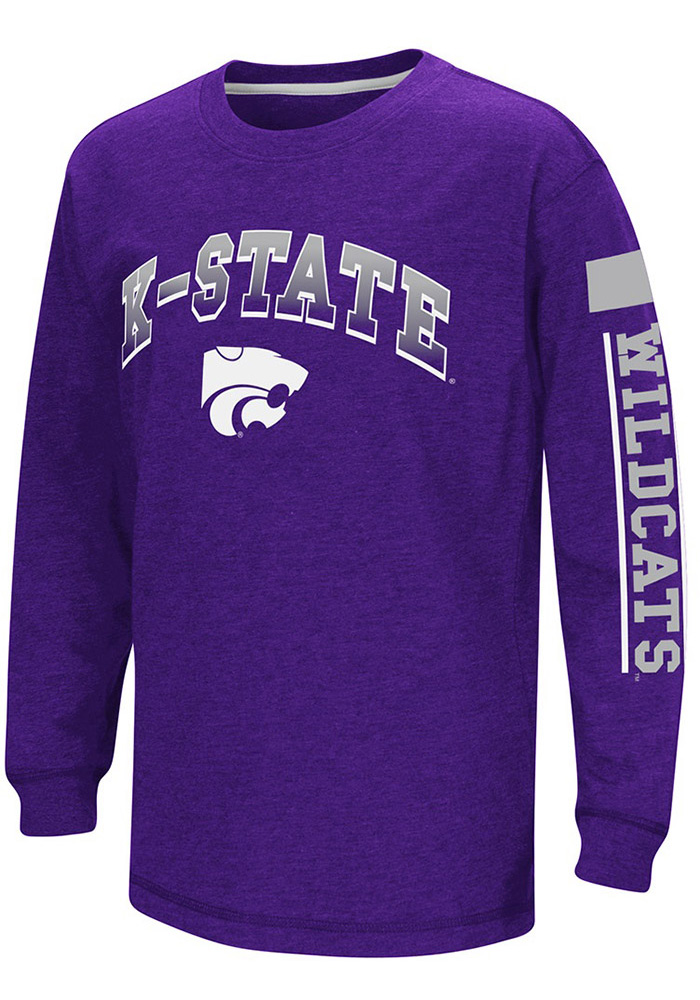 Colosseum K-State Wildcats Youth Purple Grandstand Long Sleeve T-Shirt - Image 1