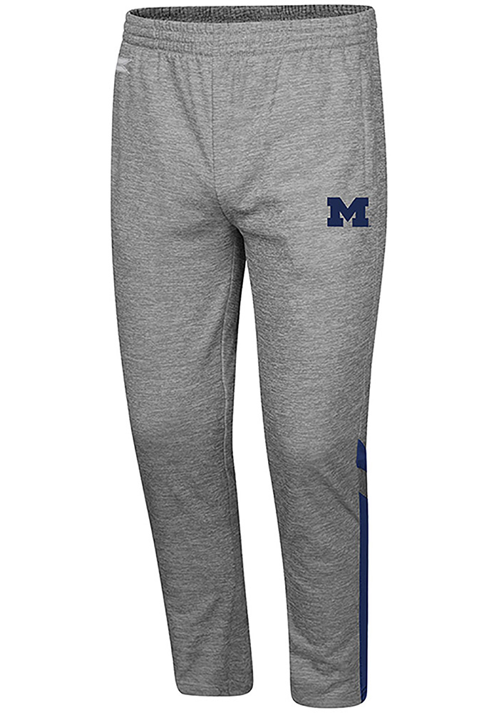 Colosseum Michigan Wolverines Mens Grey Paco Pants - Image 1