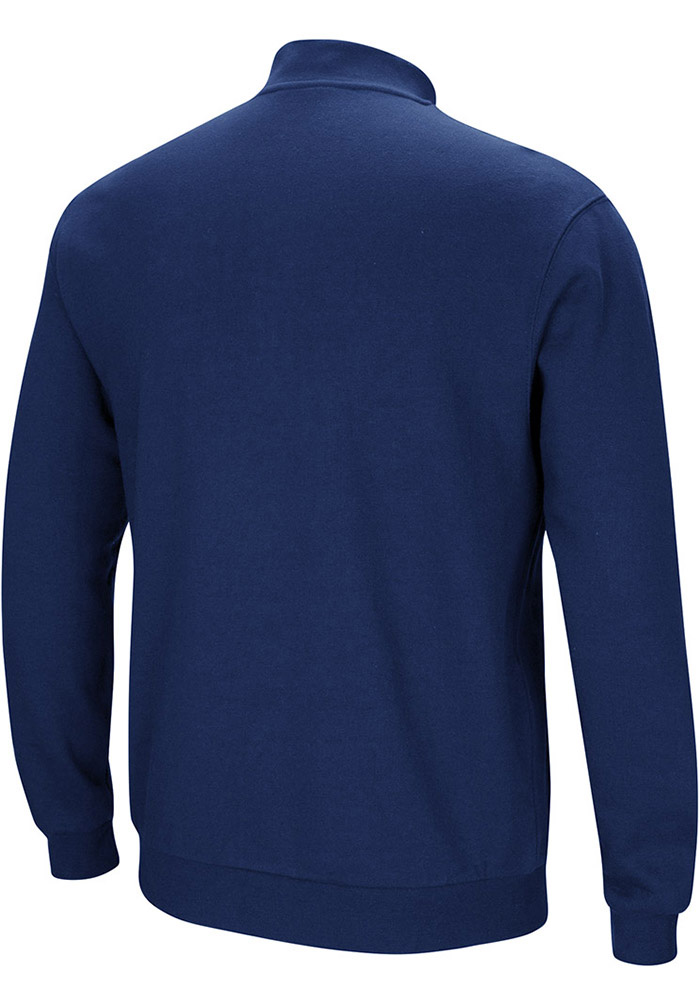 Colosseum Michigan Wolverines Mens Navy Blue Playbook Long Sleeve 1/4 Zip Pullover - Image 2
