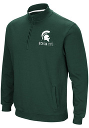 Michigan State Spartans Colosseum Playbook 1/4 Zip Pullover - Green