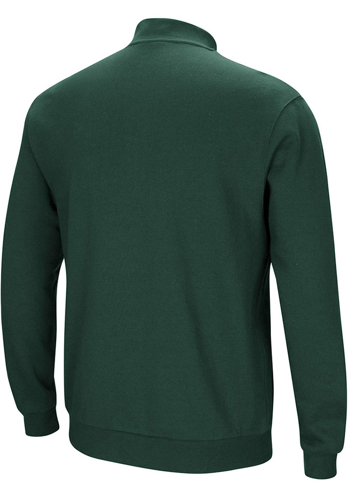 Colosseum Michigan State Spartans Mens Green Playbook Long Sleeve 1/4 Zip Pullover - Image 2