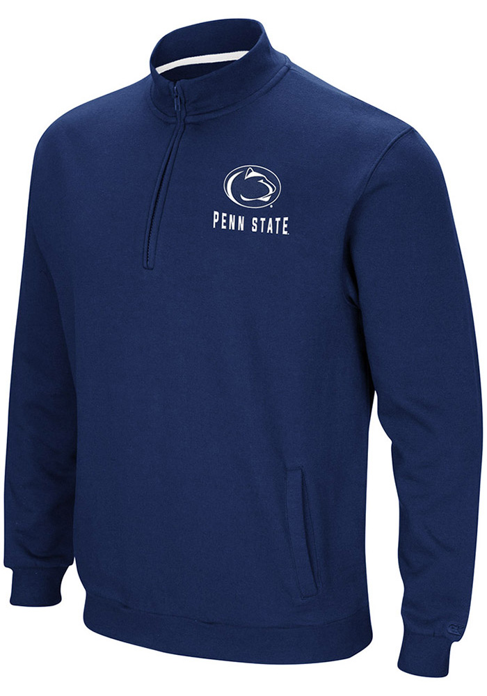 Colosseum Penn State Nittany Lions Mens Navy Blue Playbook Long Sleeve 1/4 Zip Pullover - Image 1