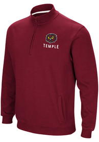 Temple Owls Colosseum Playbook 1/4 Zip Pullover - Maroon