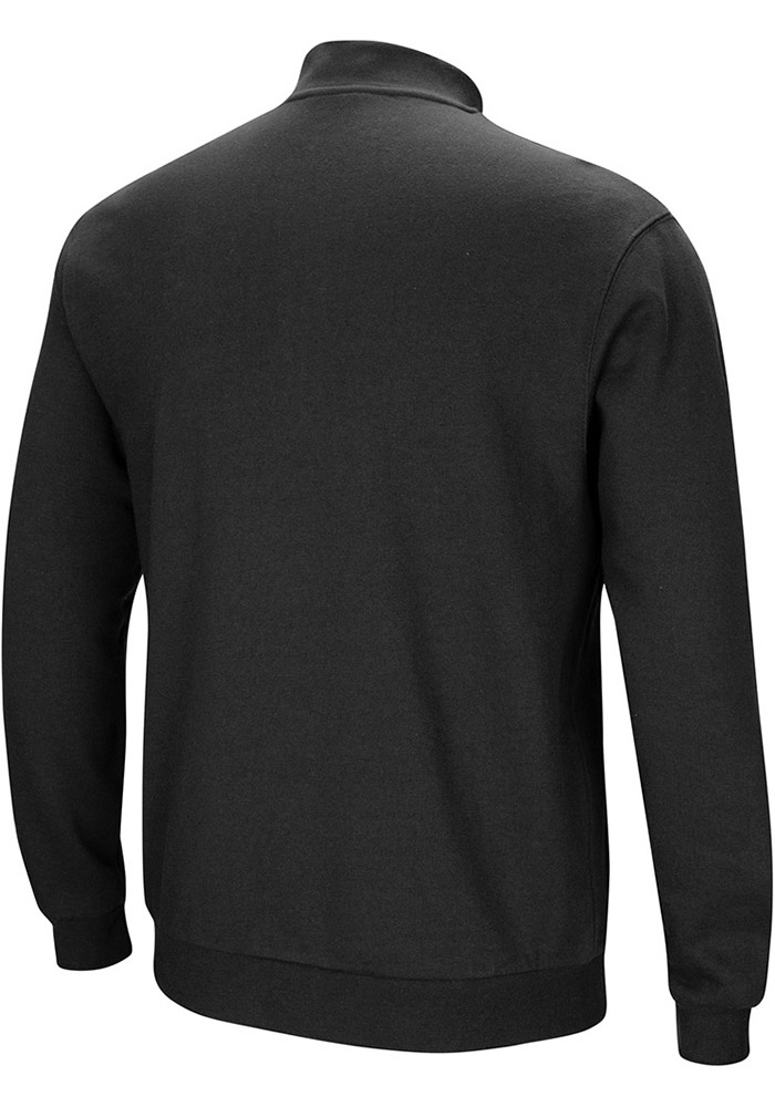 Colosseum Wichita State Shockers Mens Black Playbook Long Sleeve 1/4 Zip Pullover - Image 2