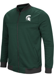 Colosseum Michigan State Spartans Mens Green Sack The QB Track Jacket