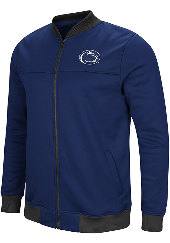 Colosseum Penn State Nittany Lions Mens Navy Blue Sack The QB Track Jacket - Image 1