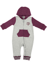 Colosseum Texas A&M Aggies Baby Grey Axel One Piece