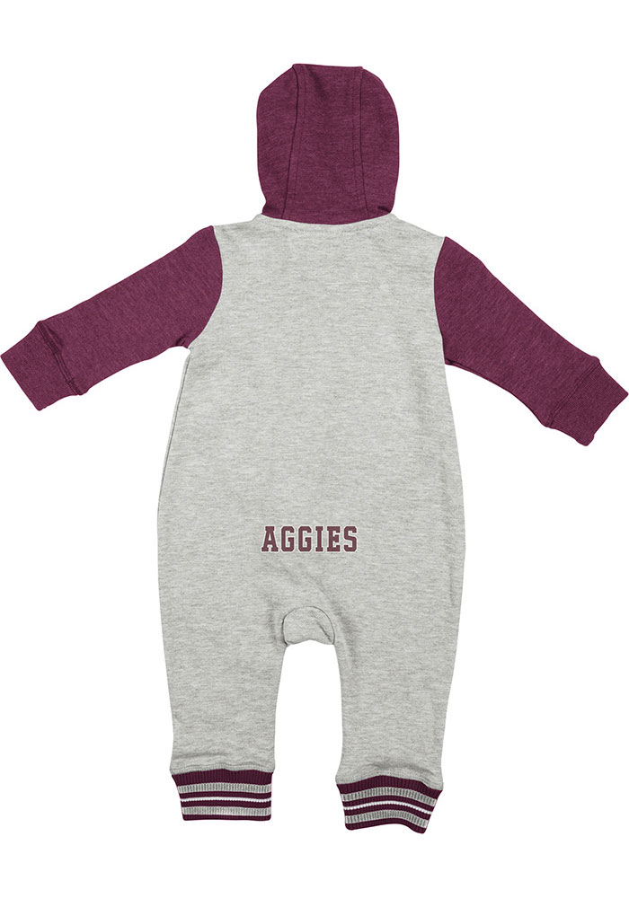 Colosseum Texas A&M Aggies Baby Grey Axel Long Sleeve One Piece - Image 2
