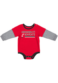 Cincinnati Bearcats Baby Colosseum Button Lift One Piece - Red