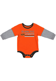 Oklahoma State Cowboys Baby Colosseum Button Lift One Piece - Orange