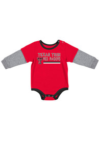 Texas Tech Red Raiders Baby Colosseum Button Lift One Piece - Red