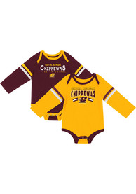 Central Michigan Chippewas Baby Colosseum Super One Piece - Maroon