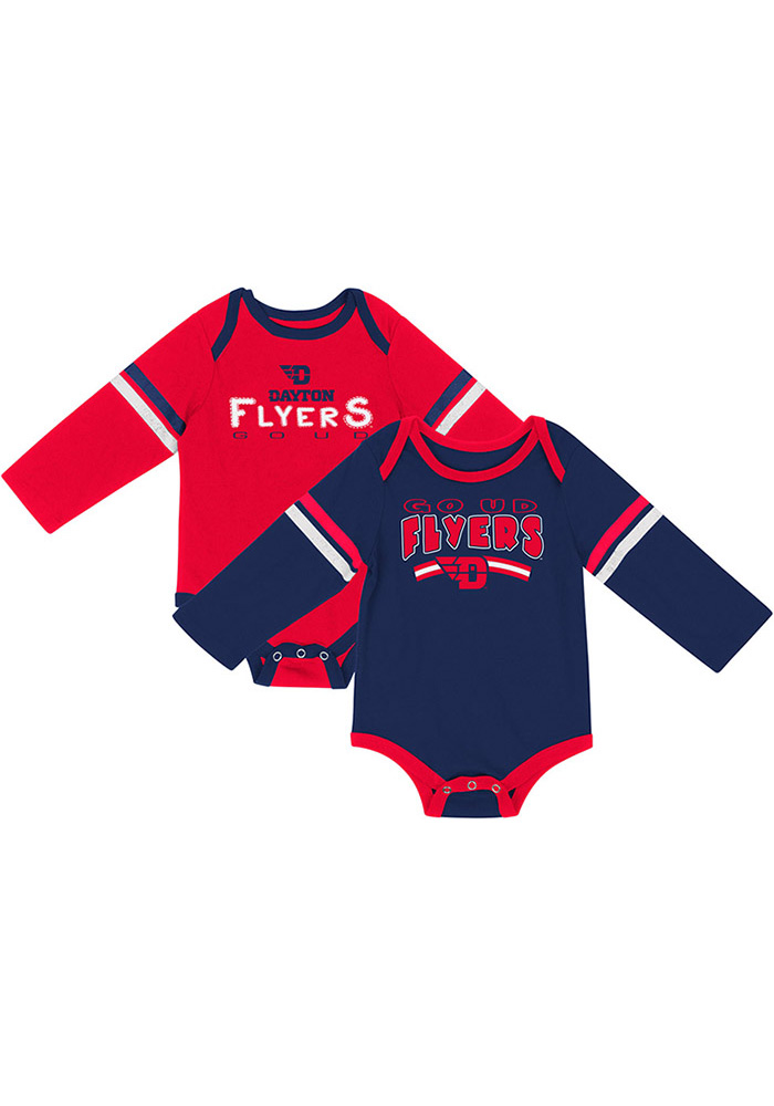 Colosseum Dayton Flyers Baby Red Super One Piece - Image 1