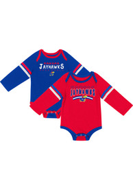 Kansas Jayhawks Baby Colosseum Super One Piece - Blue