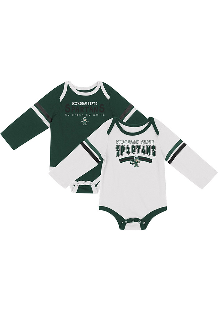Colosseum Michigan State Spartans Baby Green Super One Piece - Image 1