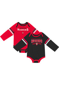 Nebraska Cornhuskers Baby Colosseum Super One Piece - Red