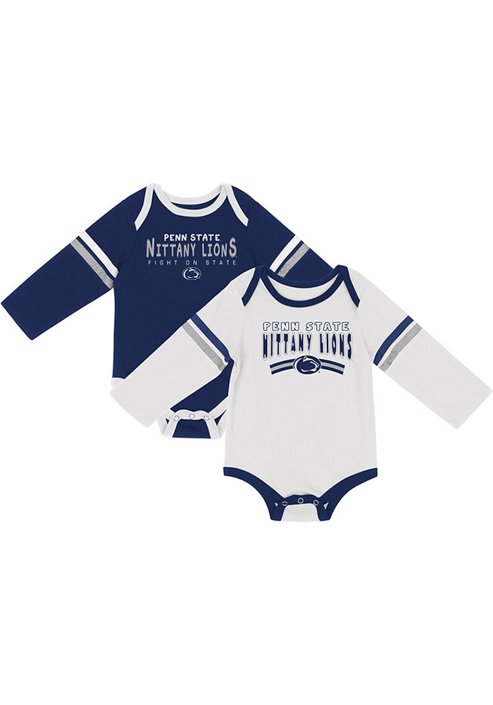 Colosseum Penn State Nittany Lions Baby Navy Blue Super One Piece - Image 1