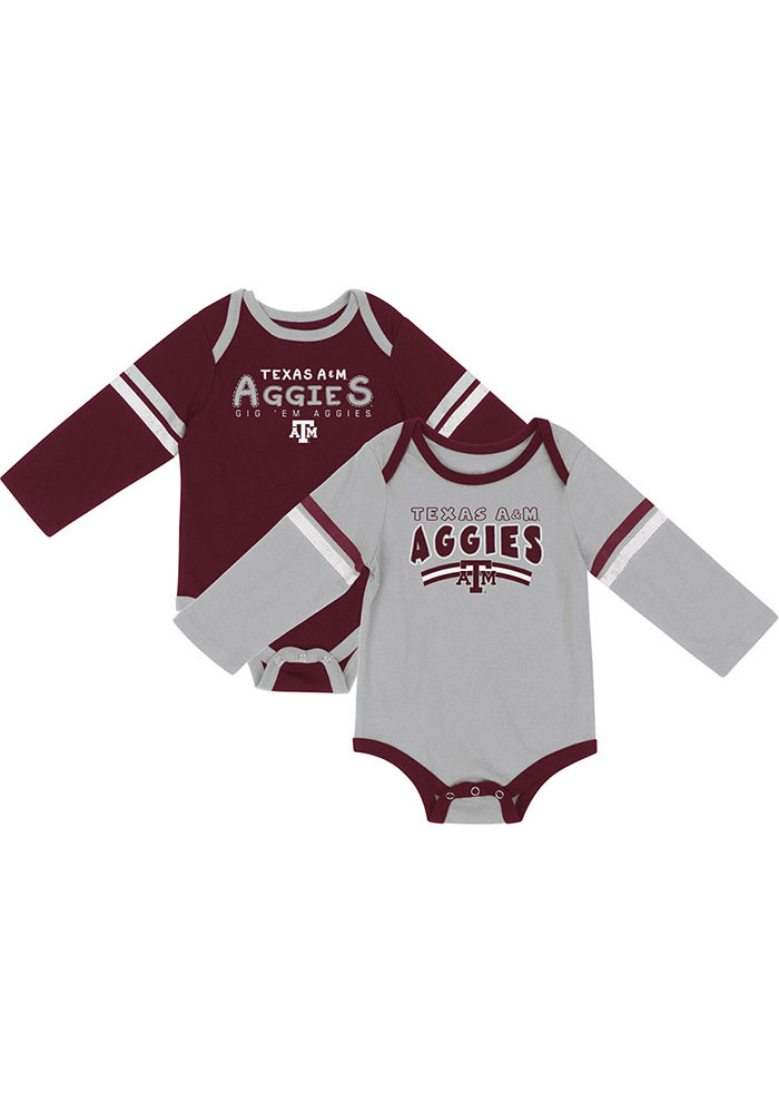 Colosseum Texas A&M Aggies Baby Maroon Super One Piece - Image 1