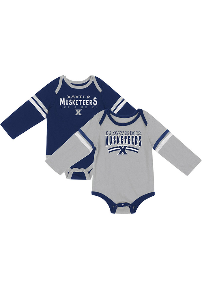 Colosseum Xavier Musketeers Baby Navy Blue Super One Piece - Image 1