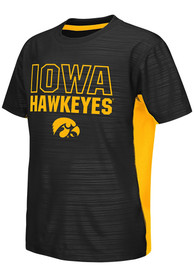 Iowa Hawkeyes Youth Colosseum Cut and Sew T-Shirt - Black
