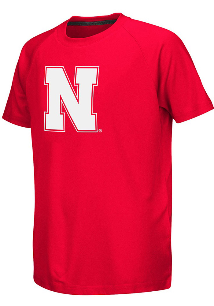 Colosseum Nebraska Cornhuskers Youth Red Kramer Short Sleeve T-Shirt - Image 1