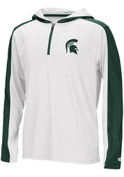 Michigan State Spartans Youth Colosseum Helisking Quarter Zip - White
