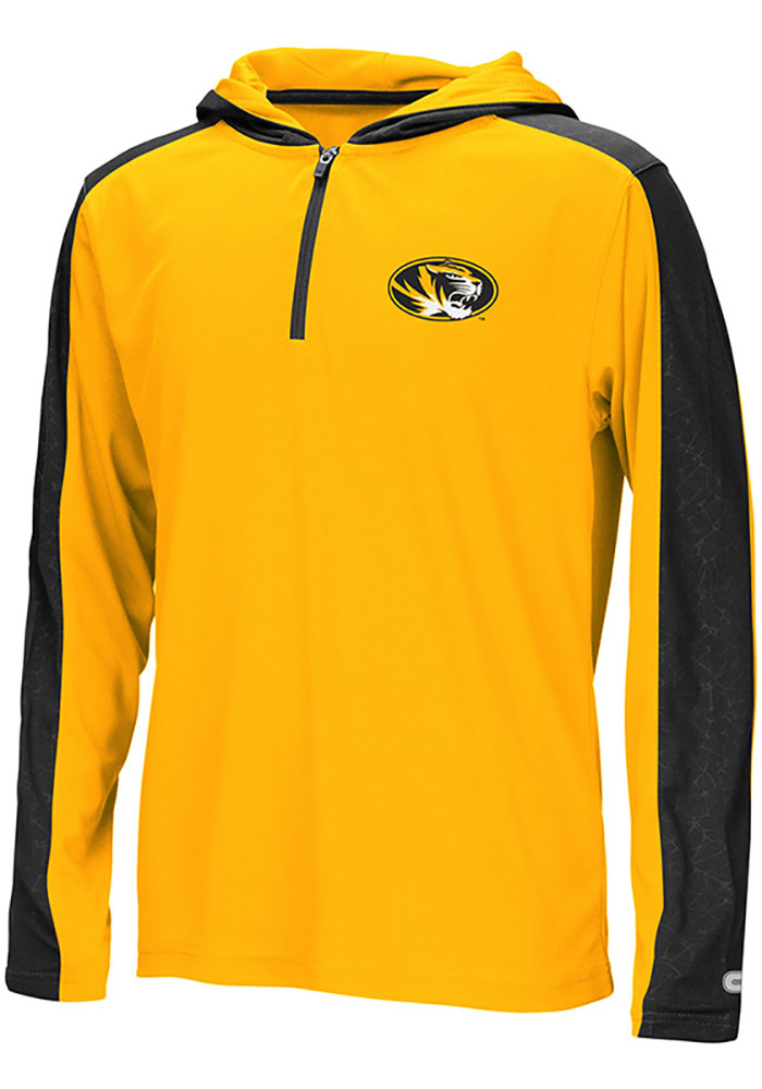 Colosseum Youth Missouri Tigers Quarter Zip Hooded Windshirt