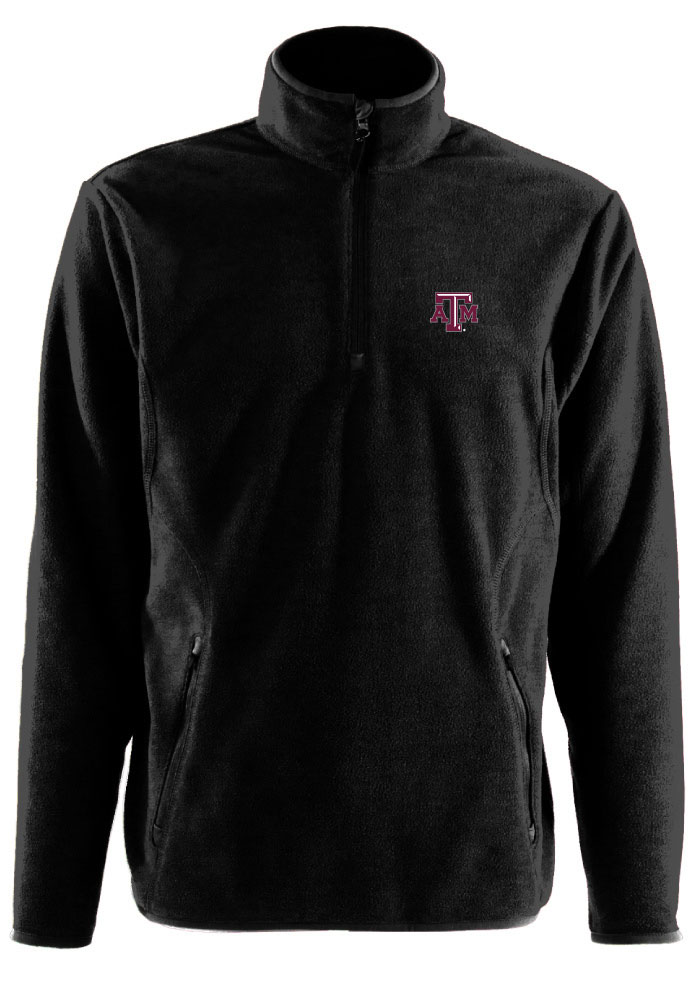 Antigua Texas A&M Aggies Black Ice 1/4 Zip Pullover