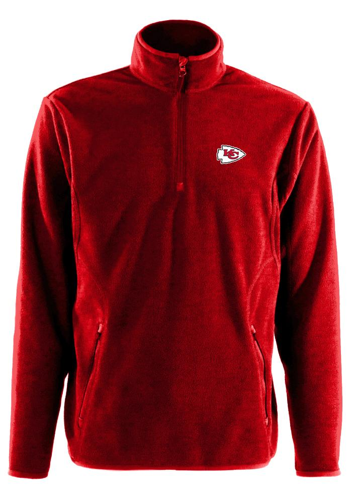 Antigua Kansas City Chiefs Mens Red Ice Long Sleeve 1/4 Zip Pullover - Image 1