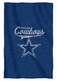 Dallas Cowboys Navy Script Sweatshirt Blanket