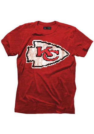 Alex Smith Kansas City Chiefs Mens Red 8 Bit Name and Number Fashion Player Tee