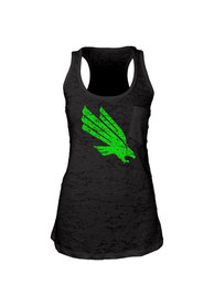 North Texas Mean Green Juniors Black Pocket Burn Tank Top