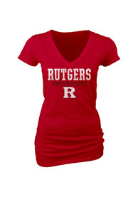 Rutgers Scarlet Knights Juniors Red Particular V-Neck